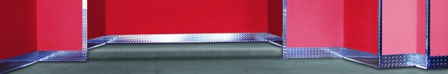 Mx Diamond Plate Aluminum Wall Base