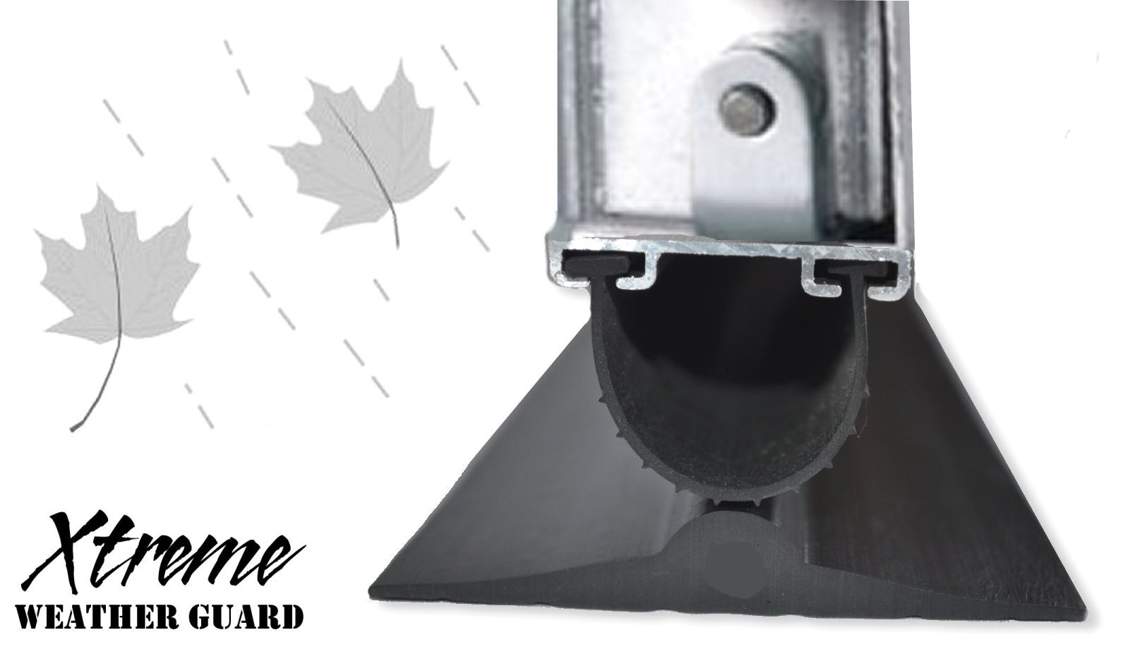 Garage Door Threshold Floor Bottom Seal All Sizes with Adhesive /& Instructions